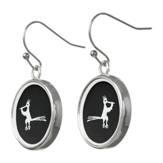 New Mexico Petroglyph Road Runner Earrings