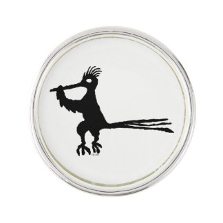 New Mexico Petroglyph Road Runner Lapel Pin