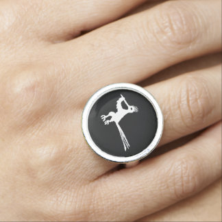New Mexico Petroglyph Road Runner Ring