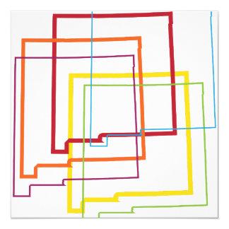 new mexico pride blur 13 cm x 13 cm square invitation card