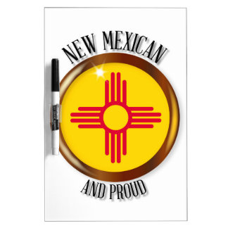 New Mexico Proud Flag Button Dry Erase Board