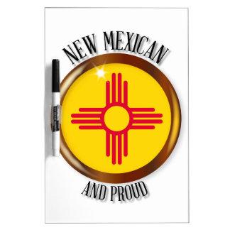 New Mexico Proud Flag Button Dry-Erase Whiteboard