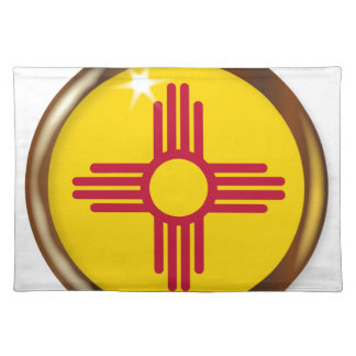 New Mexico Proud Flag Button Placemat