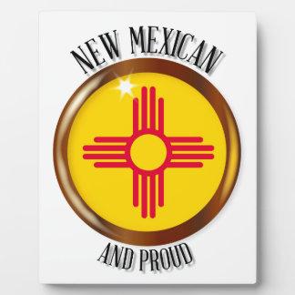 New Mexico Proud Flag Button Plaque