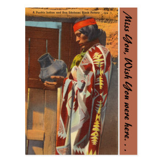 New Mexico, Pueblo Indian, San Ildefonso Pueblo Postcard