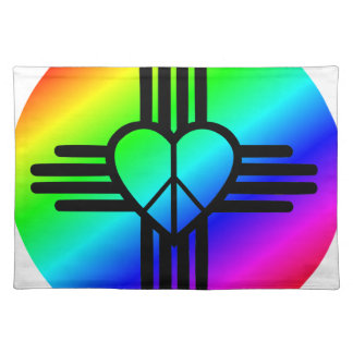 New Mexico Rainbow Love Placemat