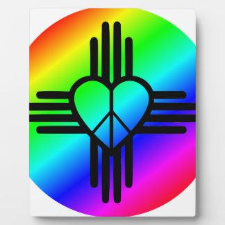New Mexico Rainbow Love Plaque