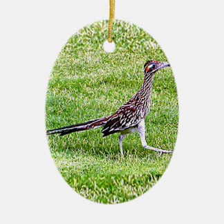 New Mexico roadrunner Ceramic Ornament