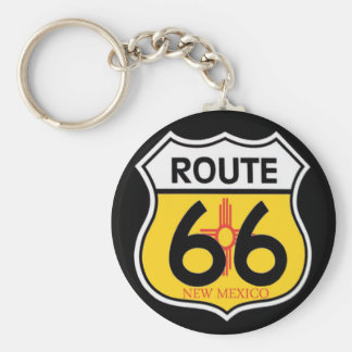New Mexico Route 66 Shield Key Ring
