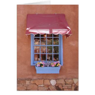 New Mexico Sante Fe Shop Window Greeting Card