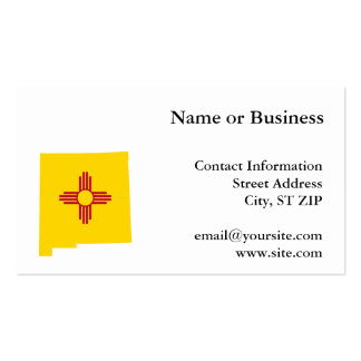 New Mexico Shape Business Card Template