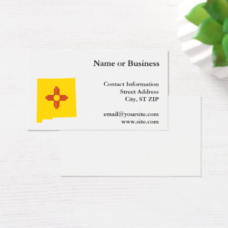 New Mexico Shape Business Card