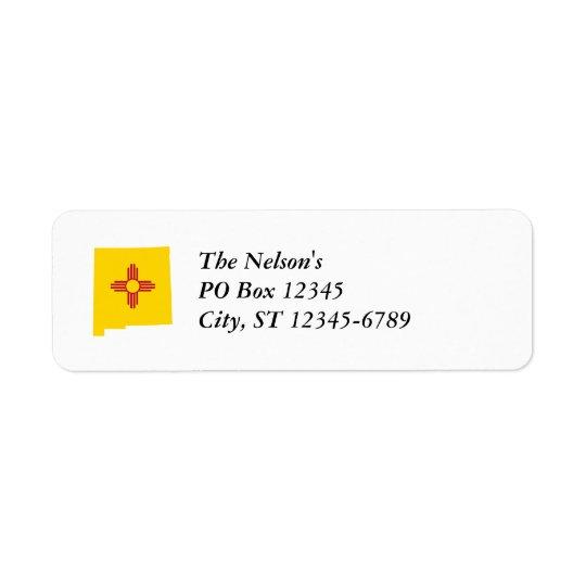New Mexico Shape Return Address Label