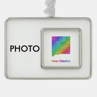 New Mexico Silver Plated Framed Ornament