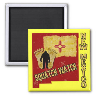 New Mexico Squatch Watch Square Magnet