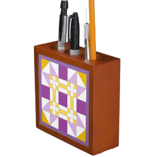 New Mexico Star Quilt Pattern Desk Organizer