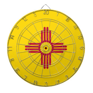 New Mexico State Flag Dartboard With Darts
