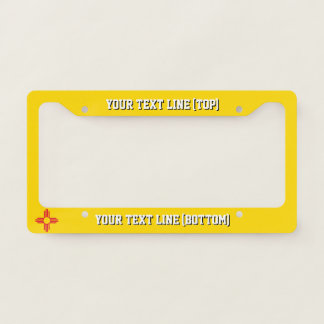 New Mexico State Flag Design on a Personalized Licence Plate Frame