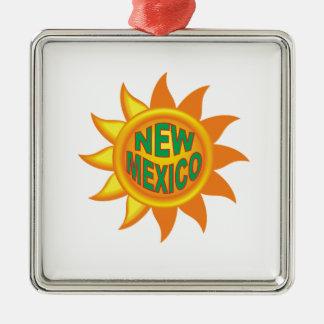 New Mexico sun Metal Ornament