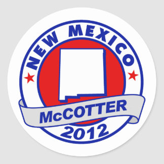 New Mexico Thad McCotter Round Sticker