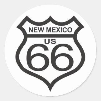 New Mexico US Route 66 Classic Round Sticker