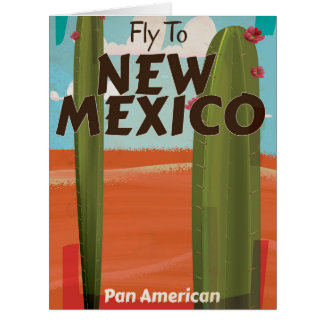 New Mexico, USA Vintage travel poster. Big Greeting Card