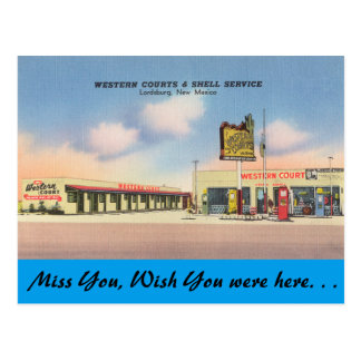 New Mexico, Western Courts, Lordsburg Postcard