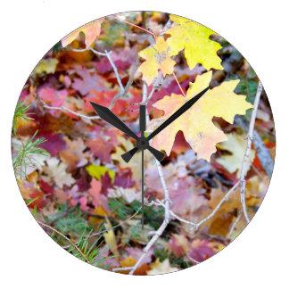 New Mexico Wild Maples Wall Clock