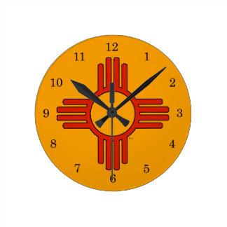 New Mexico Zia Round Clock