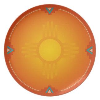 New Mexico Zia (sun) Plate