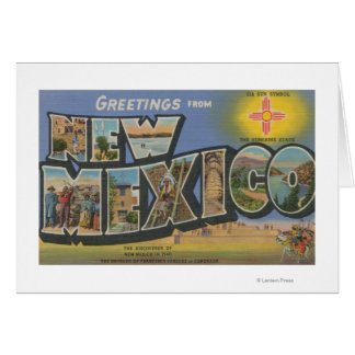 New MexicoLarge Letter ScenesNew Mexico Greeting Card