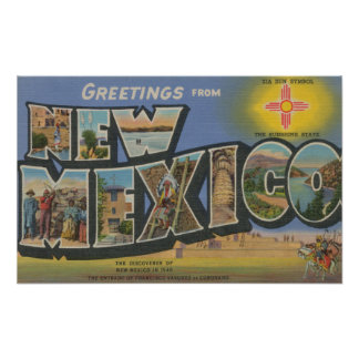 New MexicoLarge Letter ScenesNew Mexico Poster