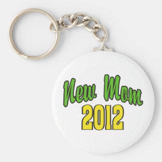 New Mom 2012 Basic Round Button Key Ring