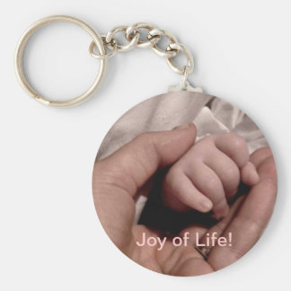 New Mom and Baby - Joy of Life Basic Round Button Key Ring