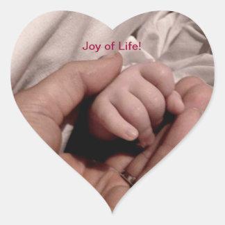 New Mom and Baby - Joy of Life Heart Sticker