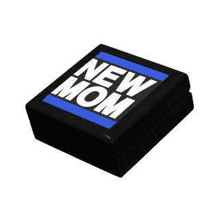 New Mom Blue Trinket Boxes