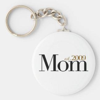 New Mom Est 2009 Keychain