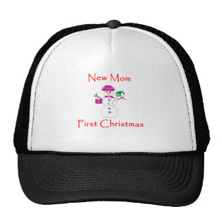 New Mom First Christmas Trucker Hat
