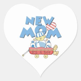 New Mom It s a Boy Gifts Heart Sticker