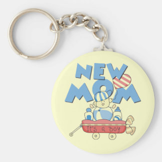 New Mom It's a Boy Tshirts and Gifts Key Ring
