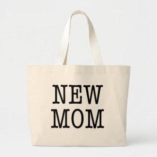 NEW MOM - large tote Jumbo Tote Bag