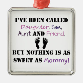 New mommy metal ornament