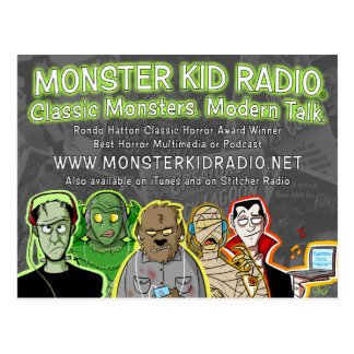 New Monster Kid Radio Card Postcard