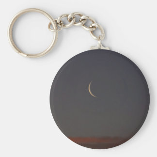 New Moon At Sunset Keychain
