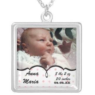 New Mothers Grandmothers - French Bow Dot Swirl Silver Plated Necklace