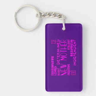 New Mothers & New Moms Baby Showers : Qualities Double-Sided Rectangular Acrylic Key Ring