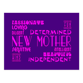 New Mothers & New Moms Baby Showers : Qualities Postcard