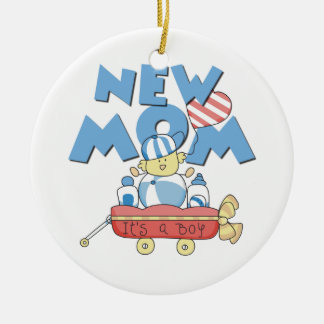 New Mum It's a Boy Gifts Round Ceramic Decoration