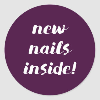 New nails inside! Fig stickers