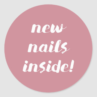 New nails inside! Rose stickers